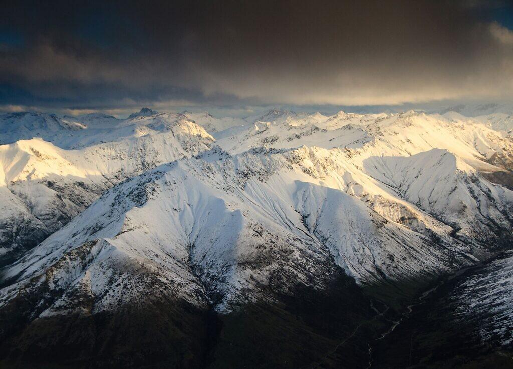 Southern Alps Aerial Photo near Lake Wakatipu