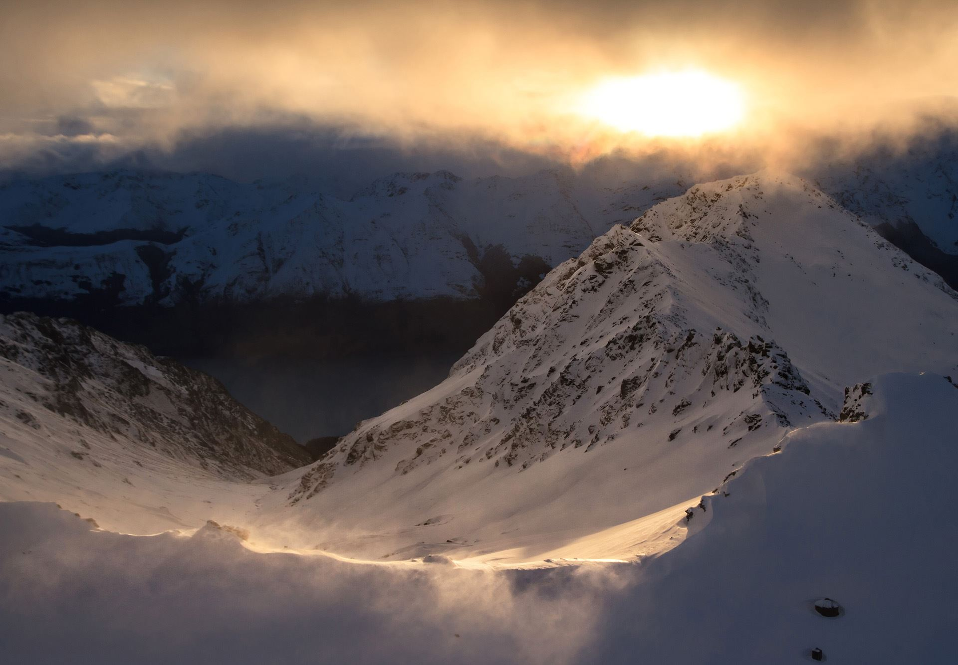 Southern Alps aerial photo