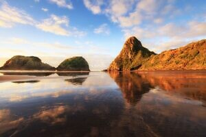 Back Beach reflections, New Plymouth