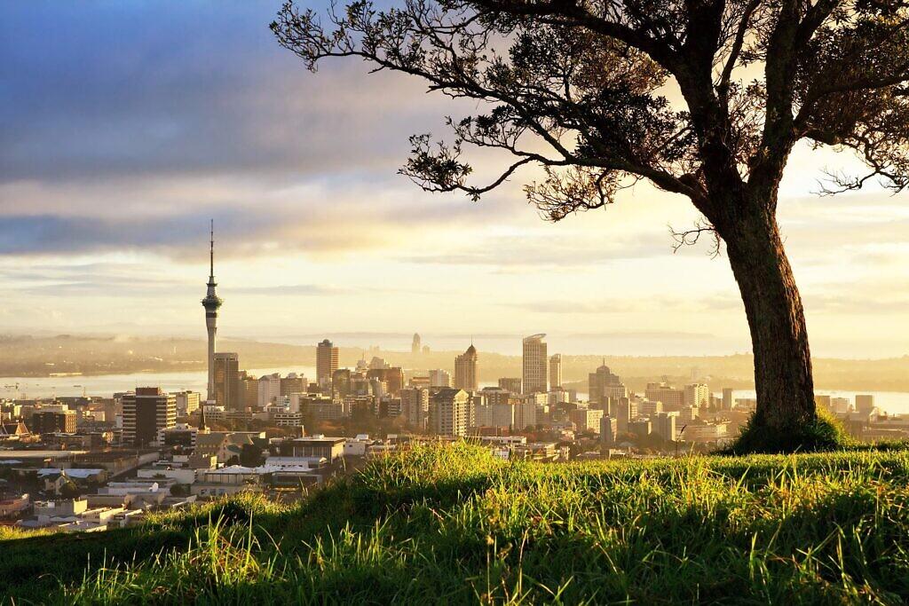 Sunrise from Mt Eden, Auckland