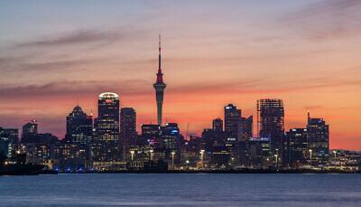 Auckland CBD sunset