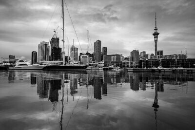 Auckland Viaduct Black and White