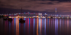 Auckland Night Reflections