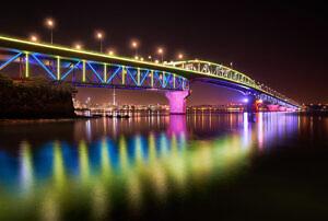 Auckland Harbour Bridge reflections