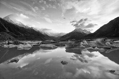 Tasman Lake Clouds