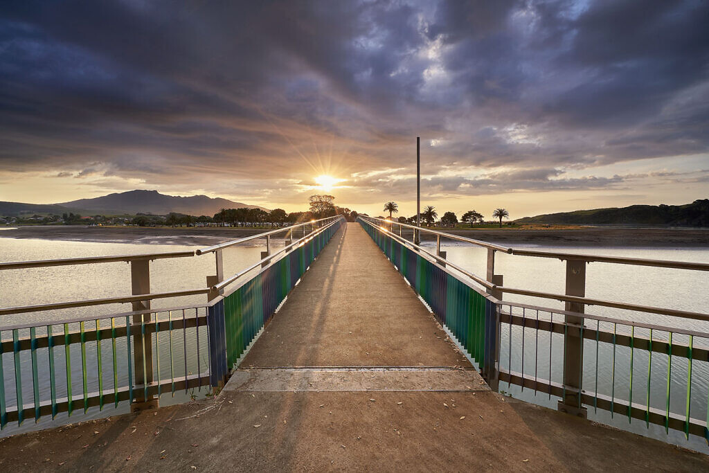 Raglan Bridge Sunset
