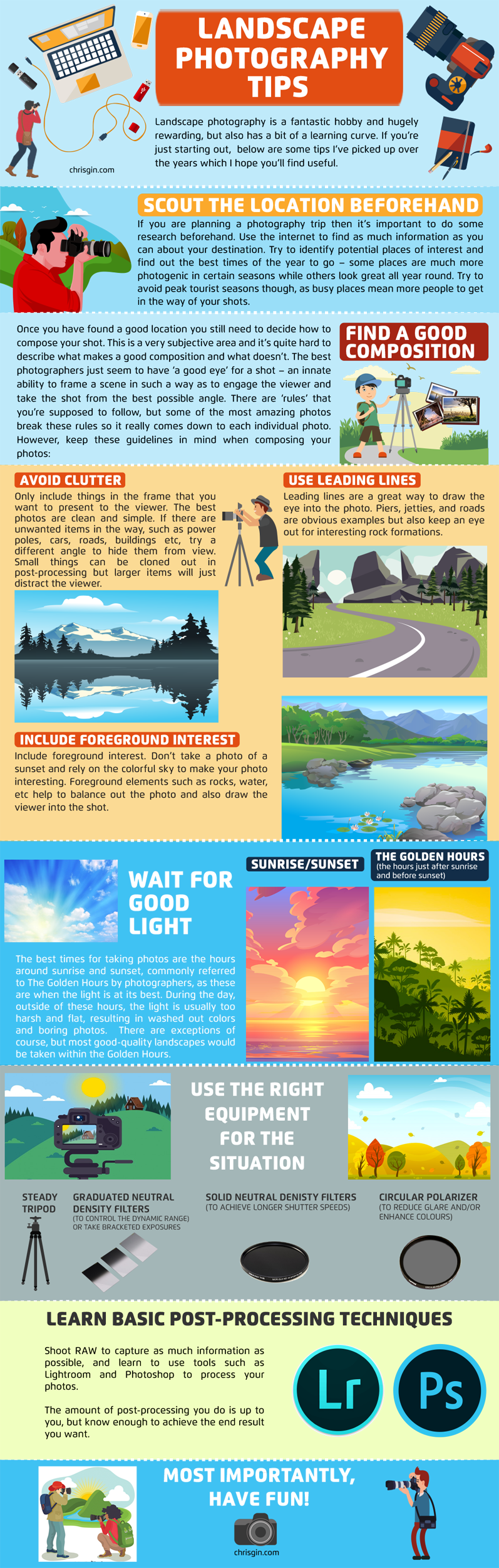 Landscape Photography Tips Infographic