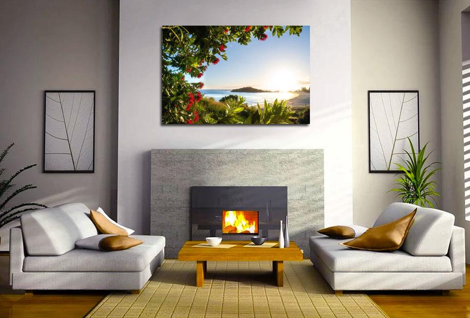 Mt maunganui pohutukawa wall print
